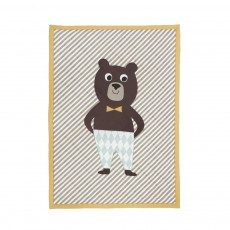 Bear quilted blanket Multicolore