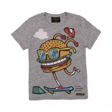 T-shirt Skate Burger Gris chiné