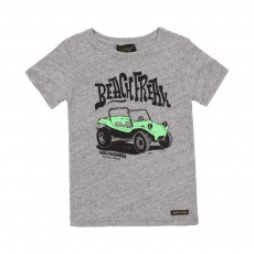T-shirt Beach Freak Gris chiné