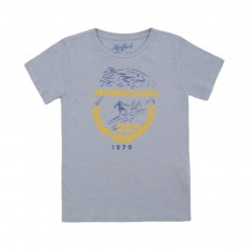 T-shirt Pray For Waves Bleu gris