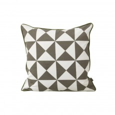 Coussin Large Geometry - Gris