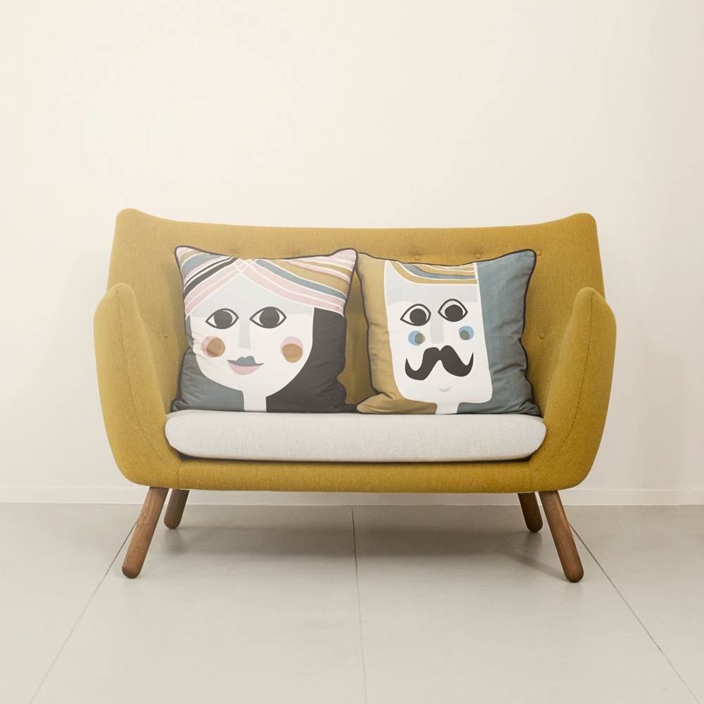 coussin mme cushion 50x50 cm ferm living d coration. Black Bedroom Furniture Sets. Home Design Ideas