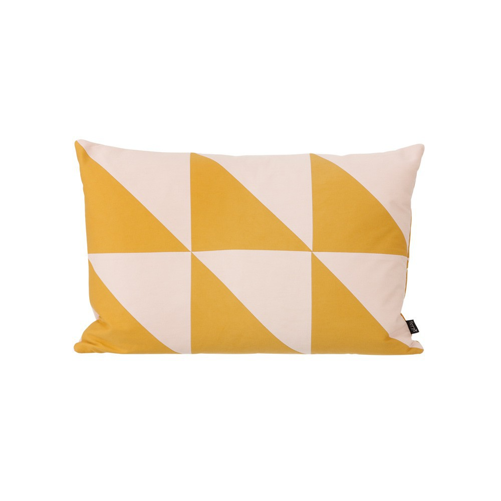 coussin twin triangle jaune moutarde 60x40 cm ferm living d coration smallable