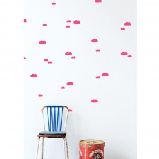 Sticker Nuage - Rose fluo