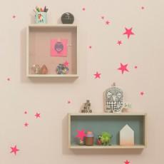 Sticker planche d'étoiles - Rose fluo