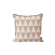 Coussin Large Geometry - Rose