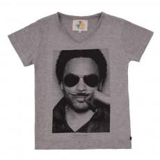 T-shirt Lenny Moucheté Gris