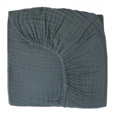 Drap-housse - Bleu gris