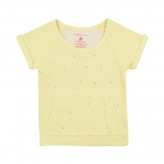 Sweat Strass Jaune pâle