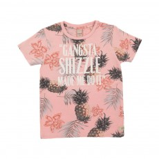 T-shirt Gangsta Shizzle Rose pâle