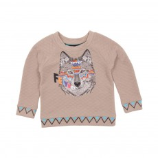 Sweat Loup Indien Sable
