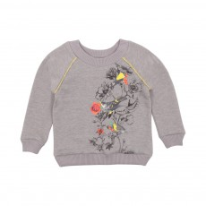 Sweat Flower Bird Lurex Gris chiné