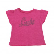 T-shirt Lucky Bébé Rose fuschia