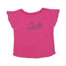 T-shirt Lucky Rose fuschia