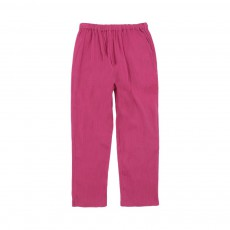 Pantalon Gazelle Crepon Rose fuschia