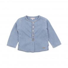 Kurta Grand Père Chambray Bébé Denim