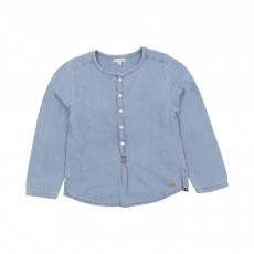 Kurta Grand Père Chambray Denim