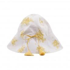 Chapeau Colette Fleurs Jaune citron