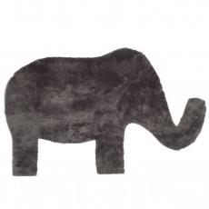 Tapis éléphant Gris foncé