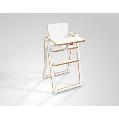 chaise haute supaflat blanc le fait main. Black Bedroom Furniture Sets. Home Design Ideas