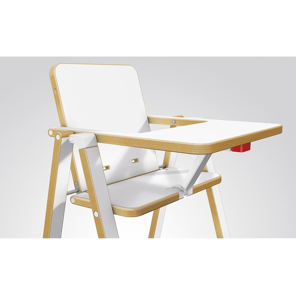 Chaise haute supaflat blanc supaflat univers b b for Chaise haute corolle