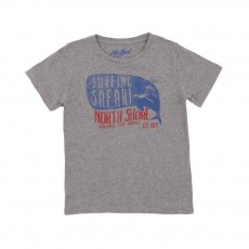 T-shirt Surf  Safari Baleine Gris chiné