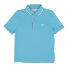 Polo Avec Liseré Bleu turquoise