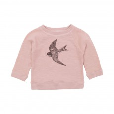 Sweat James Hirondelle Bébé Vieux Rose