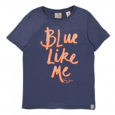T-shirt Blue Like Me Bleu jean