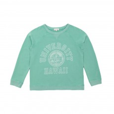 Sweat Mateo Hawai University Vert d'eau