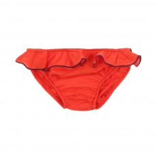 Culotte de Bain Bordure Fluo Orange