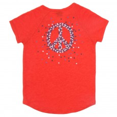 T-Shirt Lin Peace Tipisy Rouge