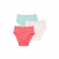 Lot de Trois Culottes Couleurs Multicolore