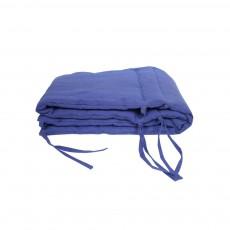 Tour de lit Lin Bleu indigo
