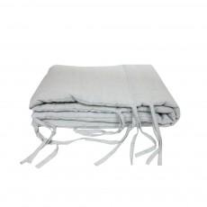 Tour de lit Lin lavé Gris