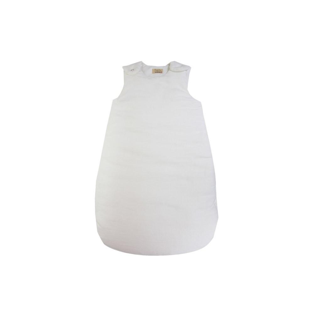 Linen Baby Sleeping Bag White