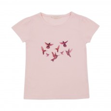 T-Shirt fronces Beija Flor Rose pâle