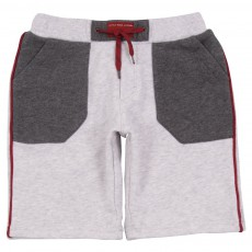 Short Molleton Gris clair