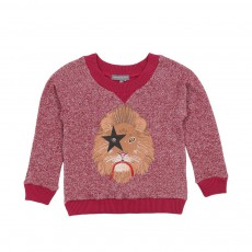 Sweat Kiss Lion Bordeaux