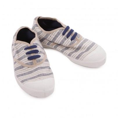 Scarpe da tennis stringate a righe Blu