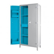 Armoire à Malices - Gris clair/Turquoise