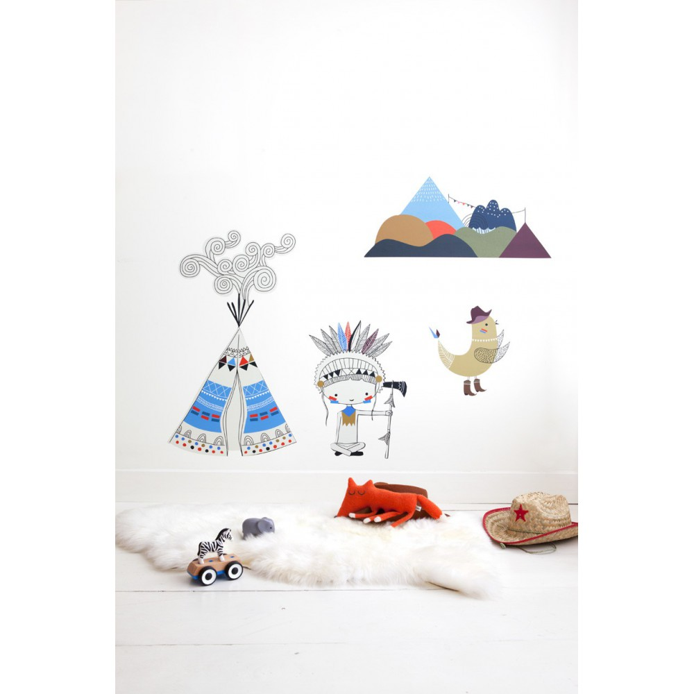 Sticker tipi gar on grand format poisson bulle - Stickers muraux grand format ...
