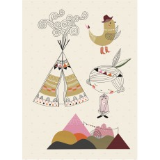 Sticker tipi fille grand format