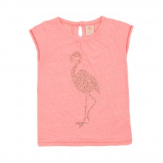 T-shirt Flamant rose Corail