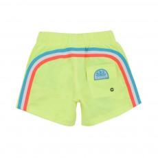 Short De Bain Bande Tricolore Jaune