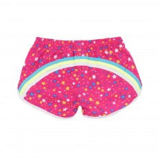 Short De Bain Etoiles Multicolore Rose