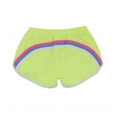 Short De Bain Fluo Bande Tricolore Dos Jaune