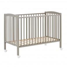 Lit bébé 60x120 cm - Laqué Gris