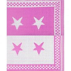 Natte plastique étoiles - Rose et blanc