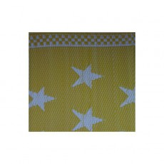 Natte plastique étoiles - Jaune et blanc